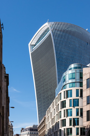 talkie: Close-up view of the Walkie Talkie building in London