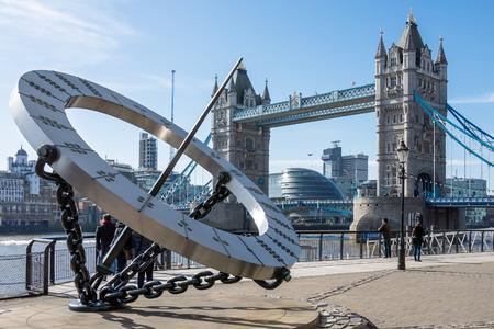 sun dial: Sun dial near Tower Bridge