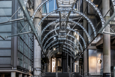 lloyd's of london: Entrance to Lloyds of London