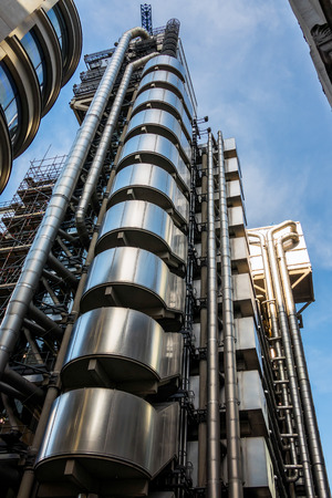 lloyds: View of the Lloyds of London Building Editorial
