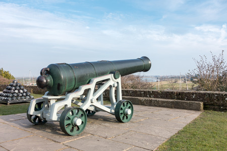 ypres: View of a cannon at the Castle in Rye East Sussex