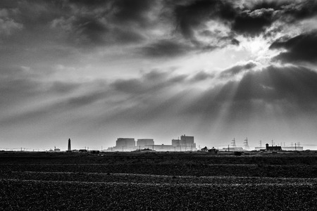 generates: Nuclear Power Station on the beach at Dungeness