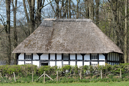 history building: View of Abernodwydd Farmhouse at St Fagans National History Museum