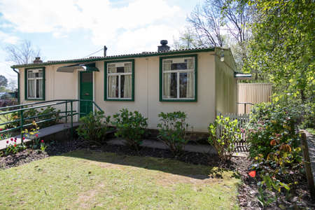 prefabricated: Prefabricated Bungalow at St Fagans National History Museum