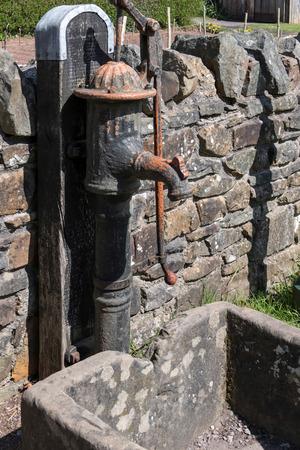 Old water pump at St Fagans National History Museum