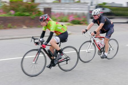 rivals rival rivalry season: Cyclists participating in the Velethon Cycling Event in Cardiff Wales on June 14, 2015
