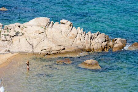 dei: Lady in the sea Cala dei Ginepri in Sardinia