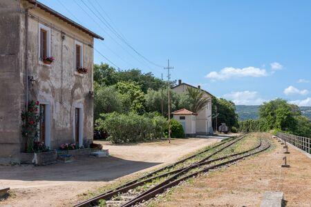 disused: Disused railway station at Lu Lioni in Sardinia