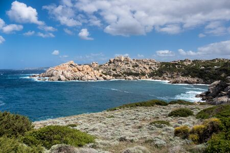 capo: The coastline at Capo Testa Sardinia