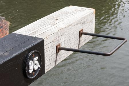 berkshire: Lock gate on the Kennet and Avon Canal near Aldermaston Berkshire on July 5, 2015 Editorial