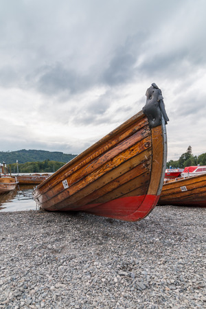 beached: Rowing Boats Beached at Bowness on Windermere