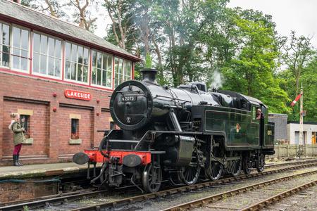 42.073 BR Fairburn, op Lakeside Station Windermere Redactioneel