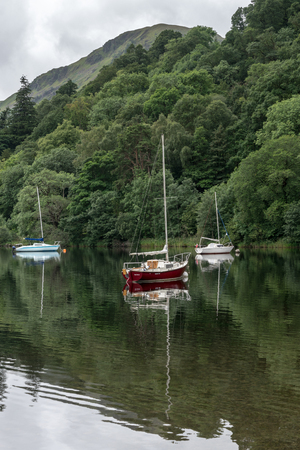 moored: Boats moored at Ullswater