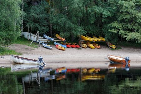 buoys: Rowing Boats Moored on Loch Insh