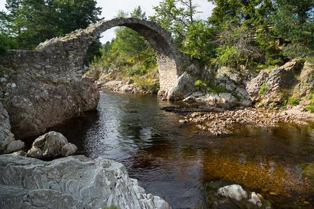 old packhorse bridge: The Packhorse Bridge at Carrbridge Stock Photo