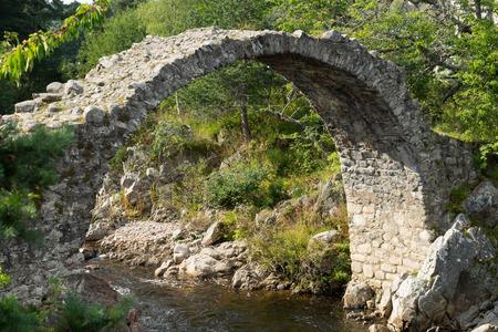 strathspey: The Packhorse Bridge at Carrbridge Stock Photo