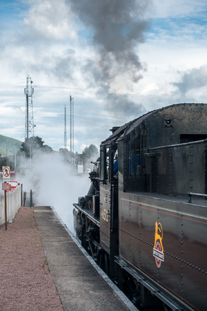 strathspey: Ivatt 46512 Locomotive at Aviemore Station