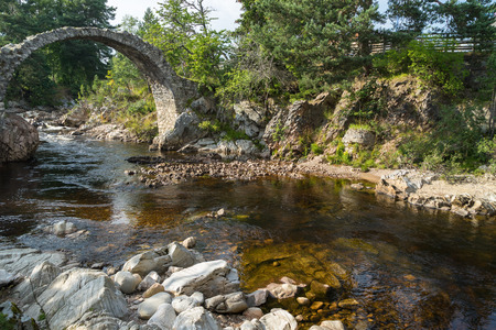 old packhorse bridge: The Packhorse Bridge at Carrbridge Stock Photo