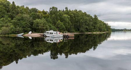 moored: Boats moored on Loch Insh