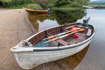 Rowing Boat Moored on Loch Insh