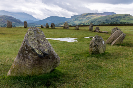 borrowdale: Castlerigg Stone Circle Stock Photo