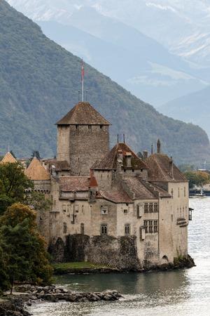 chateau: Chateau de Chillon in Montreux Switzerland