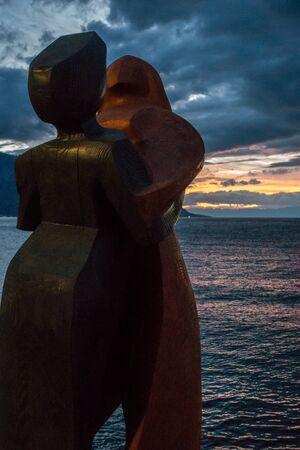 montreux: Modern art statue in Montreux Switzerland