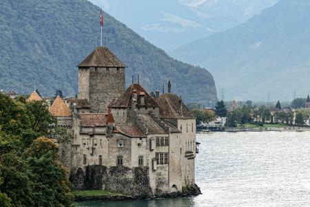 montreux: Chateau de Chillon in Montreux Switzerland