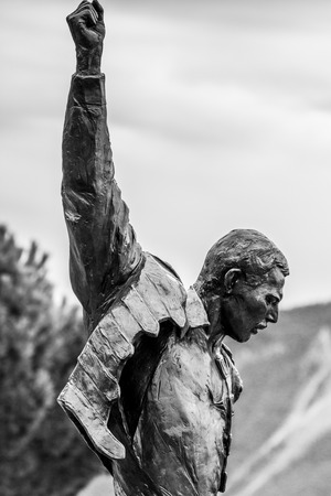 montreux: Statue of Freddie Mercury in Montreux Stock Photo