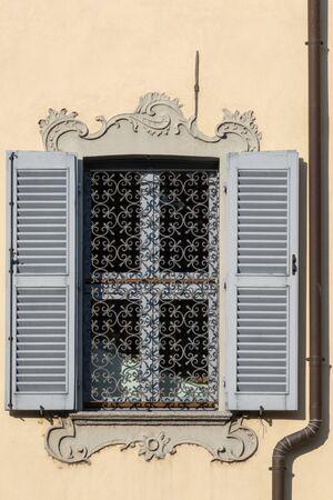arona: Old window in Arona Lake Maggiore Piedmont Italy Stock Photo