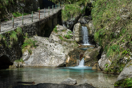 Pool of Horses at Val Vertova Lombardy near Bergamo in Italy