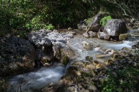 torrent: Tiny rapids at the Val Vertova torrent Lombardy near Bergamo in Italy