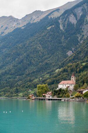oberland: Church in Brienz in the Bernese Oberland region of Switzerland Stock Photo