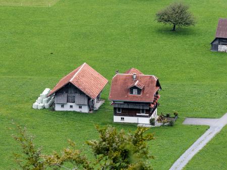 oberland: Swiss chalet near Brienz in the Bernese Oberland region of Switzerland Stock Photo