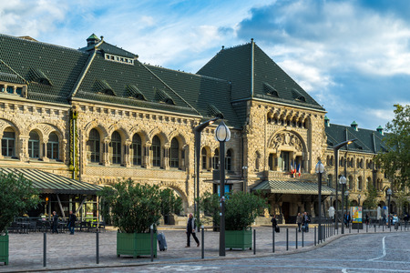 france station: View of the Station in Metz Lorraine Moselle France