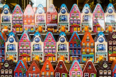 flanders: Tins of Belgian Chocolates  in Bruges West Flanders Belgium