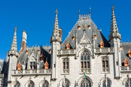 flanders: City Hall in Market Square in Bruges West Flanders Belgium