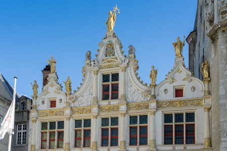 flanders: Provincial Palace in Market Square Bruges West Flanders Belgium