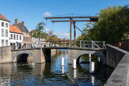 flanders: Bridge over a canal in Bruges West Flanders in Belgium