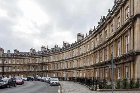 bath: View of The Circus in Bath Somerset Editorial