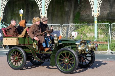 london to brighton veteran car run: Car just finished London to Brighton Veteran Car Run