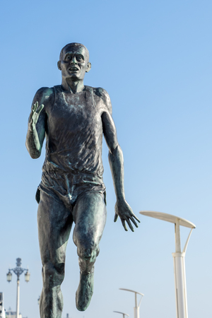 steve: The statue of Olympic Gold Medallist Steve Ovett in Brighton