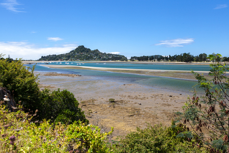 inlet: View of Tairua inlet in new Zealand Stock Photo