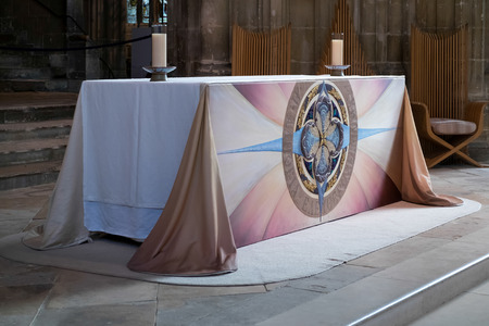 christian altar: View of an Altar in Canterbury Cathedral