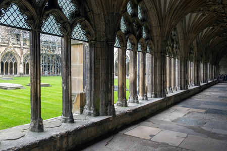 canterbury: View of the Cloisters at Canterbury Cathedral