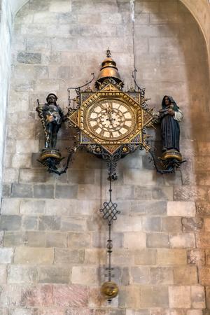 reloj de pendulo: P�ndulo Reloj de la Catedral de Canterbury Foto de archivo