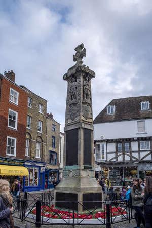 canterbury: War Memorial in Canterbury Editorial
