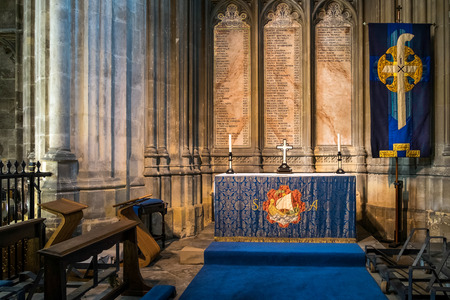 pews: Interior View of Canterbury Cathedral Editorial