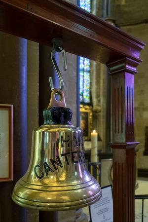 canterbury: HMS Canterbury Bell in Canterbury Cathedral Editorial