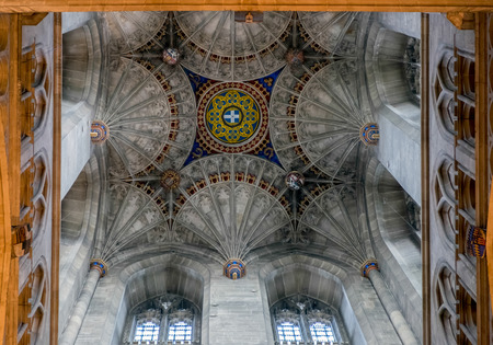 Interior View of Canterbury Cathedral Editorial